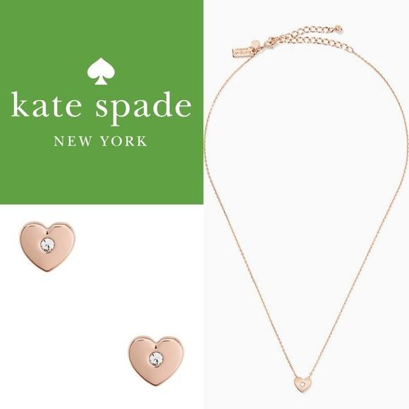 9f76afa5d2ad8 Kate Spade Love List Heart Boxed Set Rose Gold